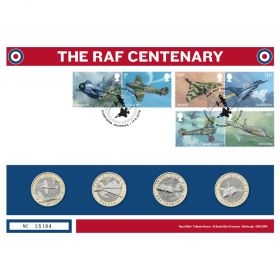 Royal Mail Raf Centenary Red Arrows Silver Proof Coin Cover 1