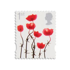 Royal Mail 1St Lest We Forget Poppy Stamp