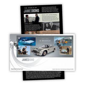 James Bond Stamp Sheet Souvenir