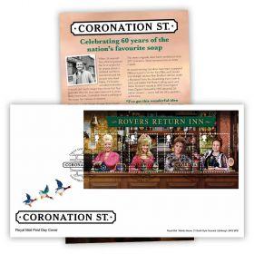 Coronation Street Stamp Sheet Souvenir
