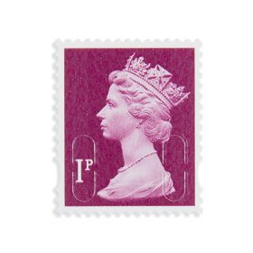 Royal Mail 1p X 25 Self Adh Stamps