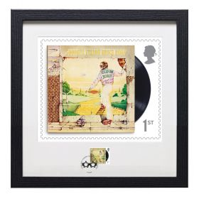 Elton John Framed Goodbye Yellow Brick Road Print and Stamp