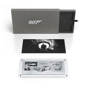 James Bond Limited Edition Silver Miniature Sheet