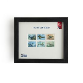 N3120 Royal Mail Raf Centenary Framed Set Of Stamps