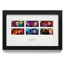 James Bond Framed Stamp Set