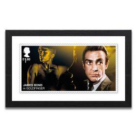 Framed Goldfinger Enlarged Stamp Print