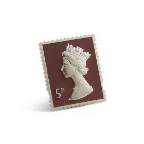 Nb030 Royal Mail Enamel Pin Badge 5P Stamp Design