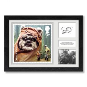 STAR WARS™ Framed Ewok Print Signed by Warwick Davis