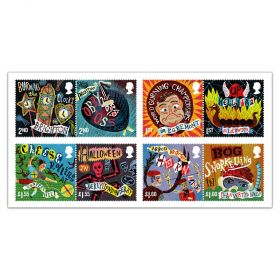 Curious Customs set of 8 stamps - full set