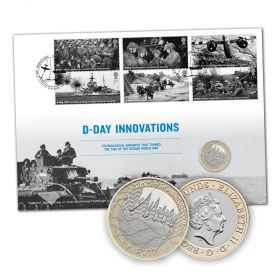 D-Day 75th Anniversary Brilliant Uncirculated Coin Cover Limited Edition
