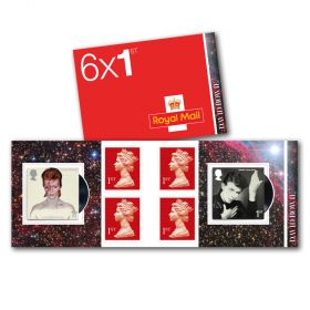 David Bowie 1st Class Stamp Book