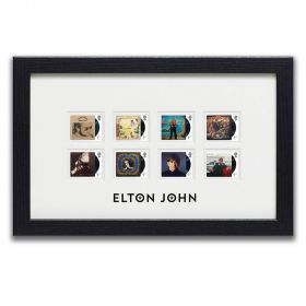 Elton John Framed Set of Stamps