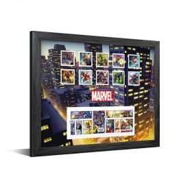 Royal Mail MARVEL Framed Stamps & Minisheet