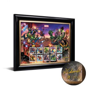 Royal Mail MARVEL Framed Stamps signed by Neil Edwards