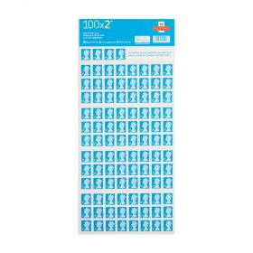 Royal Mail 100 X 2nd Class Self Adhesive Stamp