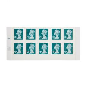 Royal Mail 10 X 2.00 Self Adhesive Stamp Sheet