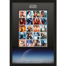 Framed STAR WARS Character Stamps 2015 & 2017