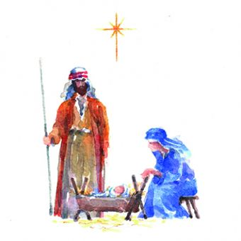 Beside the Manger Pack of 10 Charity Christmas Cards