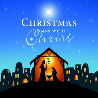 Christmas Begins Pack of 10 Charity Christmas Cards