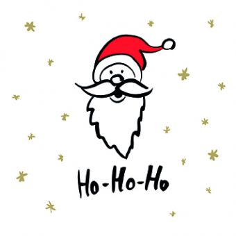 Ho Ho Ho Pack of 10 Charity Christmas Cards
