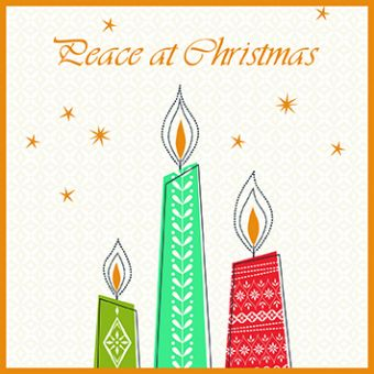 Peace Candles Pack of 10 Charity Christmas Cards