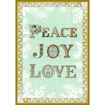 Peace Joy Love Pack of 10 Charity Christmas Cards