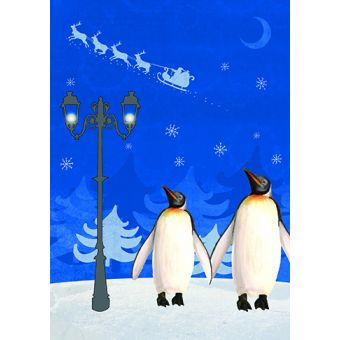 Penguins Pack of 10 Charity Christmas Cards
