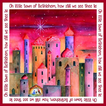 Oh Little Town Pack of 10 Charity Christmas Cards