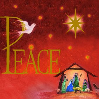 Peace Pack of 10 Charity Christmas Cards