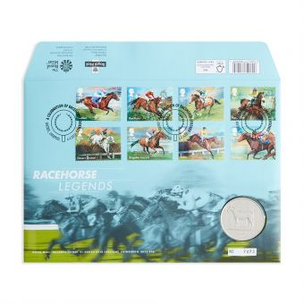 Royal Mail Racehorse Legends Medal Cover 1