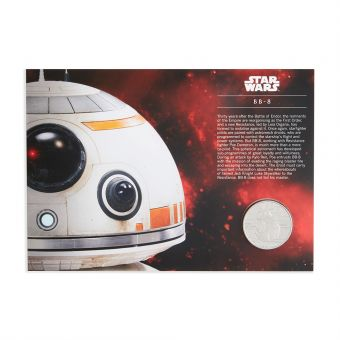 Royal Mail STAR WARS Medal Cover BB-8 1