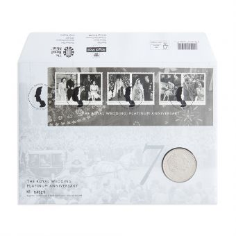 Royal Mail the Royal Wedding Platinum Anniversary Coin Cover 1