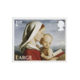 Royal Mail 25 x 1st Class Large Letter Christmas Madonna and Child