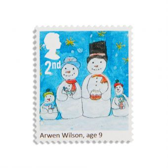 Royal Mail 25 x 2nd Class Christmas Childrens Design
