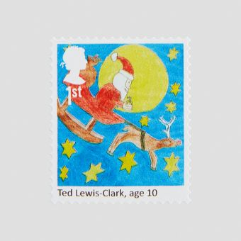 Royal Mail 25 x 1st Class Christmas Childrens Design