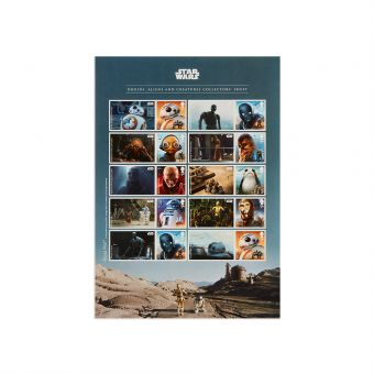 Royal Mail STAR WARS Collectors Sheet 1