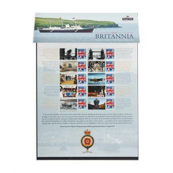 Royal Mail Commemorative Sheet Hmy Britannia 1