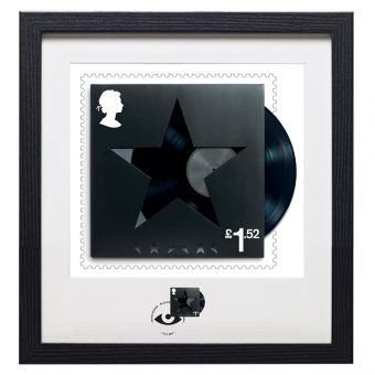David Bowie Framed Blackstar Stamp & Print, UK only