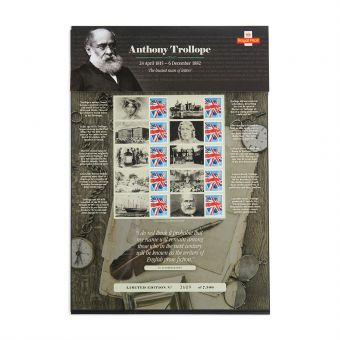 Royal Mail Commemorative Sheet Anthony Trollope 1