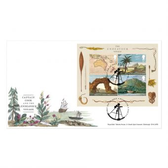 Captain Cook Stamp Sheet Souvenir