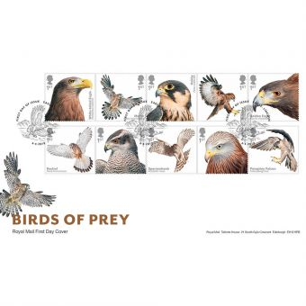 Birds of Prey First Day Cover with Eagle Lincoln Postmark