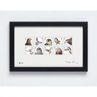 Birds of Prey Signed Framed Set of 10 Stamps