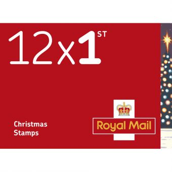 Royal Mail 12 x First Class Stamps Book Pack of 50