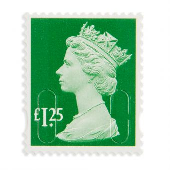 Royal Mail Machin Definitive 2018 Mint Stamp_holly Green 1.25 1