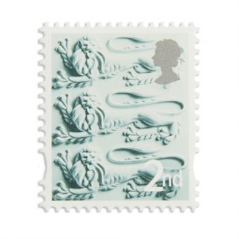 Es016 England Country Definitive 2018 Second Class Stamp