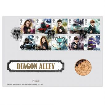 Harry Potter™ Limited Edition Diagon Alley Medal Cover