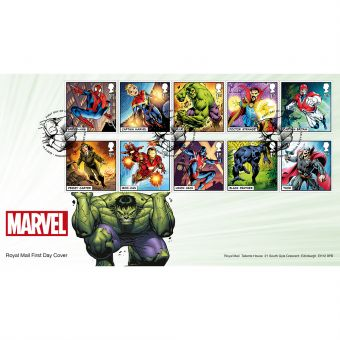 MARVEL First Day Cover with Tallents House Postmark