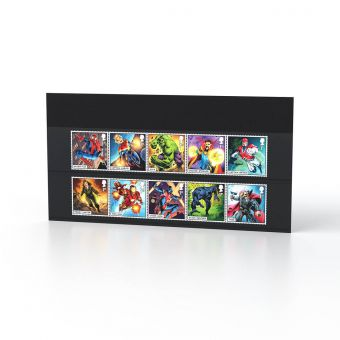 MARVEL Set of Ten Special Stamps