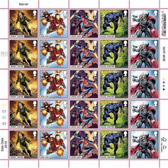 MARVEL Half Stamp Sheet Peggy Carter