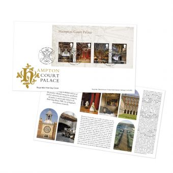 Hampton Court First Day Cover Miniature Sheet Alternative Postmark